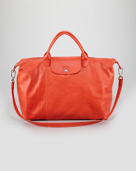 Longchamp Le Pliage Cuir Large Handbag with Strap 81e15d9f45966