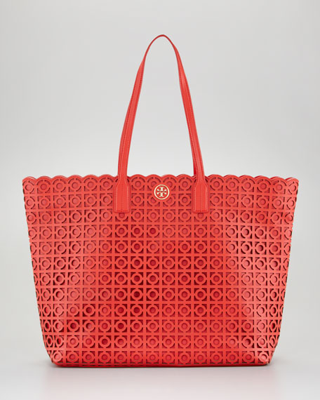 7dd60847f7b5 Tory Burch Kelsey Laser-Cut East-West Tote Bag