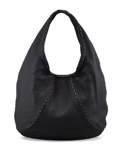 Cervo Large Hobo Bag, Black