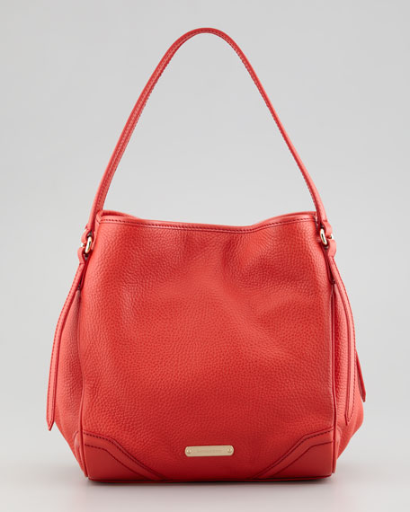 19216fd79412 Burberry Small Pebbled Leather Tote