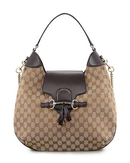 Gucci Emily GG Chain-Strap Hobo Bag 1e60fb885