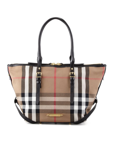 c29829415733 Burberry Bridle House Check Tote Bag