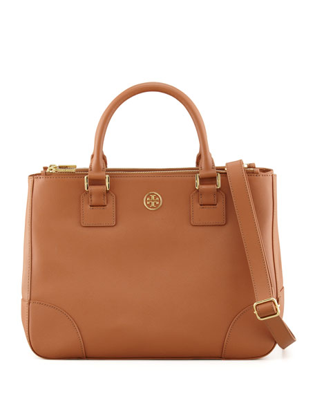 24eb1b3e18 Tory Burch Robinson Double-Zip Tote Bag, Luggage