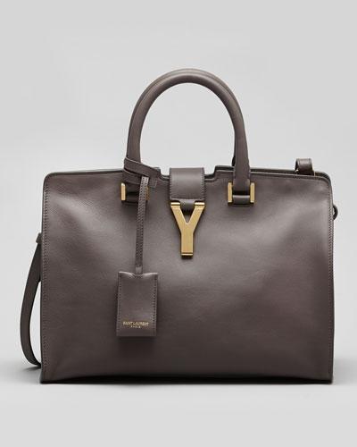 Y-Ligne Cabas Mini Leather Bag, Gray