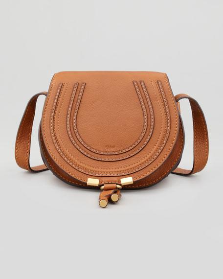 Chloe Marcie Small Leather Crossbody Bag, Tan 88dd93d872