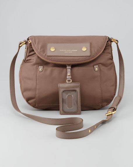 Preppy Nylon Natasha Crossbody Bag Brown
