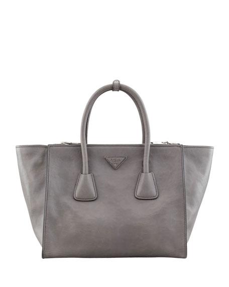 42affd74fa12 Prada Glace Calf Large Twin Pocket Tote Bag