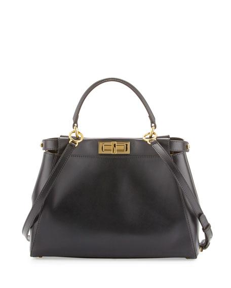 Fendi Black Leather Medium Tote Bag 61UCSP8Lm