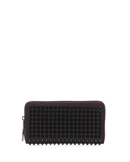 Panettone Spiked Leather Wallet - Black Christian Louboutin InXOEVjepD