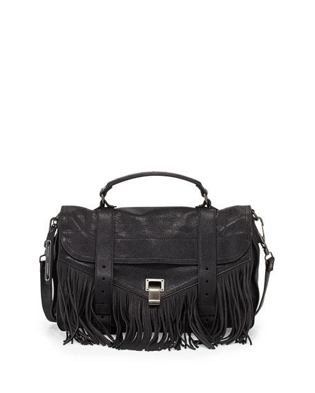 4177a84a1a Proenza Schouler PS1 Medium Fringe Satchel Bag