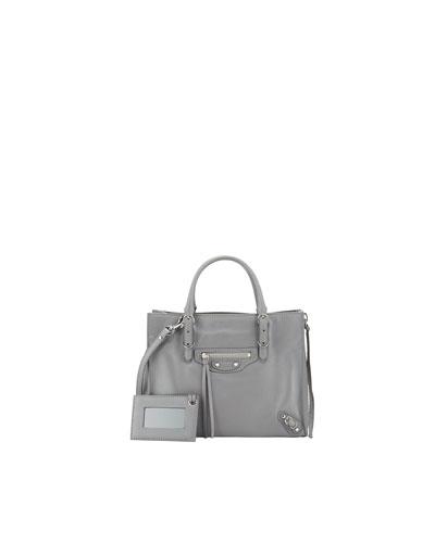 Papier A4 Mini Leather Tote Bag, Gray