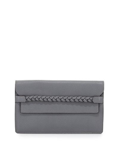 T.B.C. Braided Strap Clutch Bag, Gray