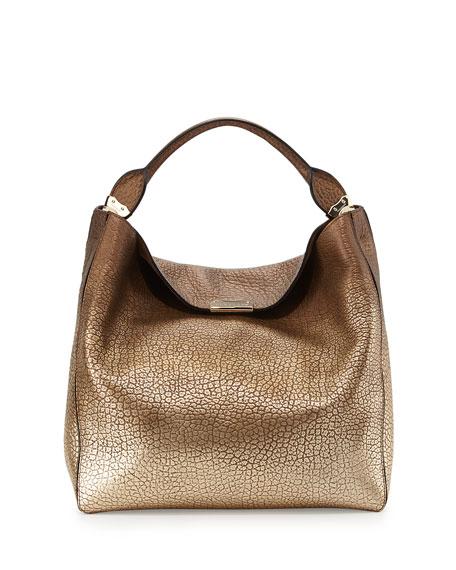 d12bc20c80f6 Burberry Pebbled Metallic Hobo Bag