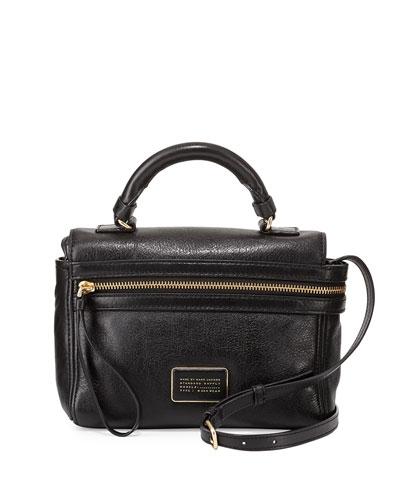 Third Rail Leather Crossbody Bag, Black