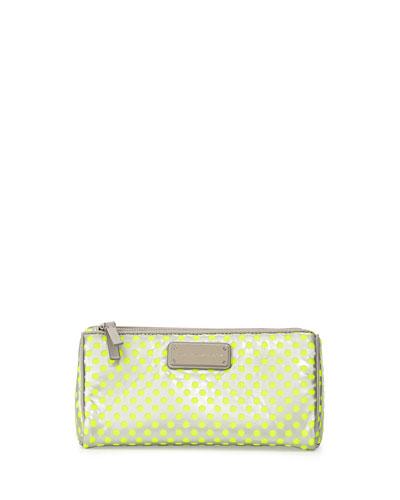 Techno Mesh Prism Cosmetic Bag, Opal Gray Multi