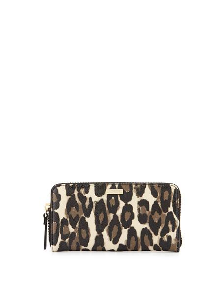 Cedar Street Leopard Print Lacey Zip Wallet