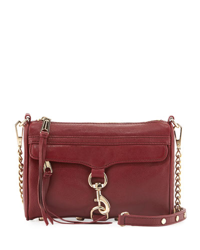 Mini MAC Crossbody Bag, Burgundy