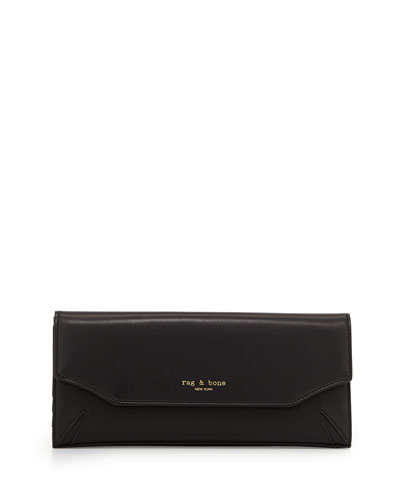 Crosby Leather Tri-Fold Wallet, Black