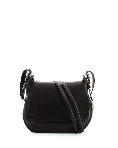 Bradbury Small Flap-Top Crossbody Bag, Black