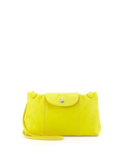 Le Pliage Cuir Crossbody Bag, Yellow