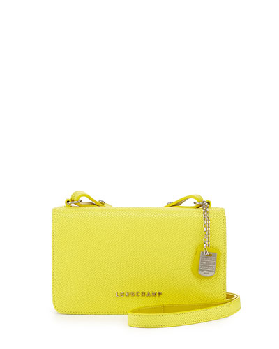Quadri Leather Crossbody Bag, Yellow
