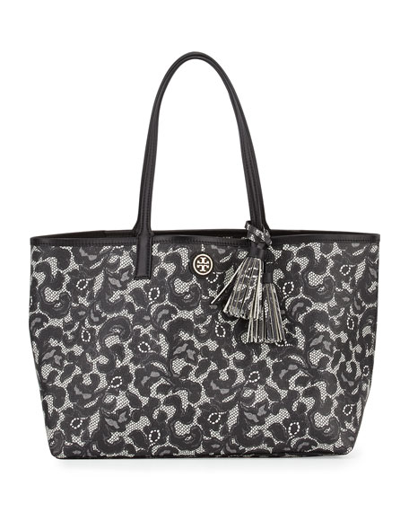 5de466f3d4e Tory Burch Kerrington Lace-Print Shopper Tote Bag