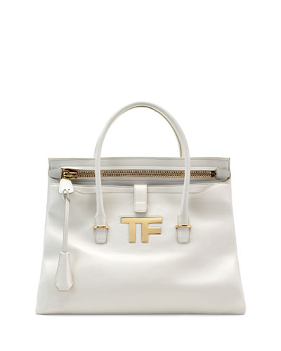 TF Icon Medium Satchel Bag, White