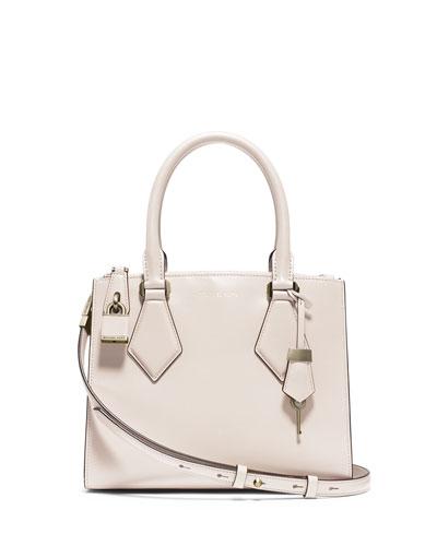 Casey Small Satchel Bag, Vanilla