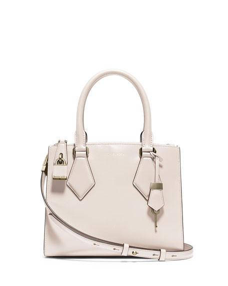 ffd8f28df3fc Michael Kors Collection Casey Small Satchel Bag, Vanilla