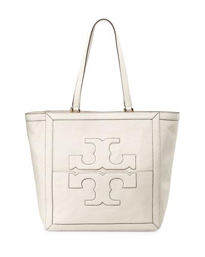 Jessica Leather Tote Bag, Birch