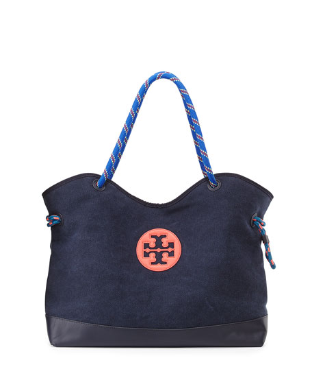 3f1a3f079db Tory Burch Kellyn Canvas Tote Bag