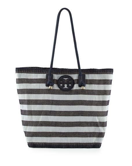 3b658530e09 Tory Burch Oversized Stripe Canvas Tote Bag