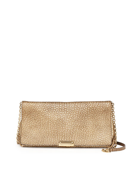 289d6d7598c5 Burberry Metallic Pebbled Flap Crossbody Bag
