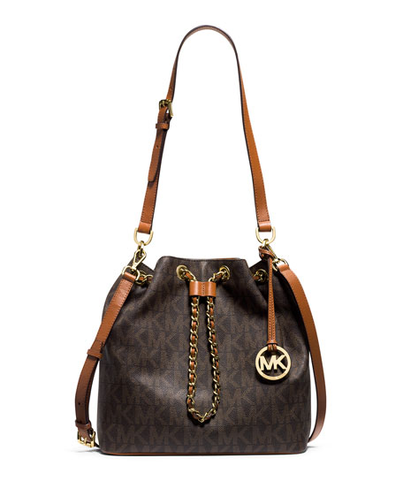 3e906838eef6 MICHAEL Michael Kors Frankie Large Convertible Drawstring Shoulder Bag,  Brown