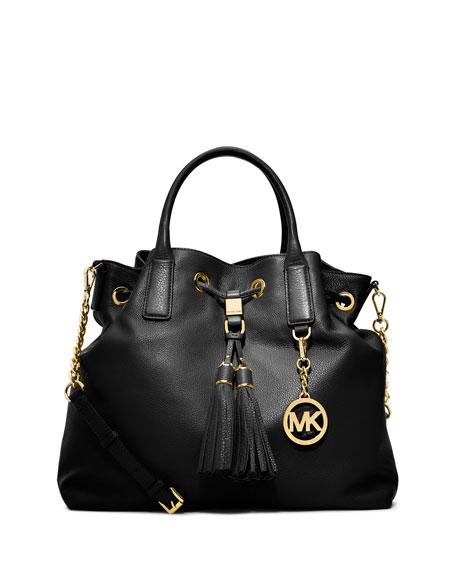 michael michael kors camden large drawstring satchel bag black rh neimanmarcus com