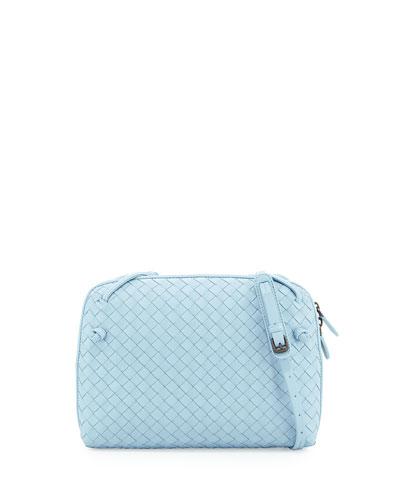 Veneta Small Messenger Bag, Light Blue