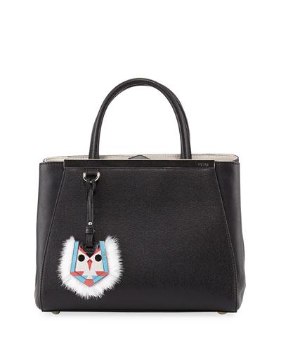 2Jours Petit Monster-Charm Shopping Tote Bag, Black