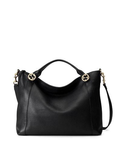 Miss GG Medium Tote Bag, Black