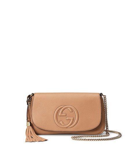 f37049a8b Gucci Soho Medium Crossbody Bag, Beige