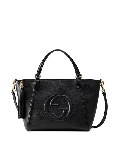 Soho Small Crossbody Tote, Black