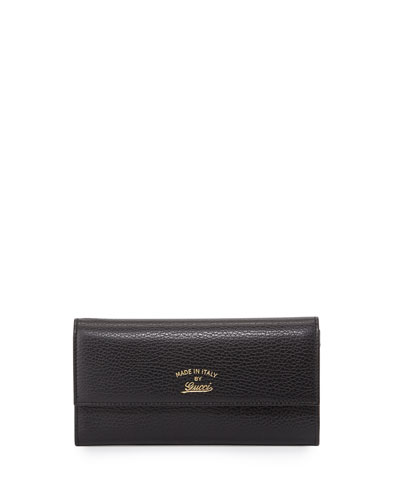 Swing Leather Continental Wallet, Black