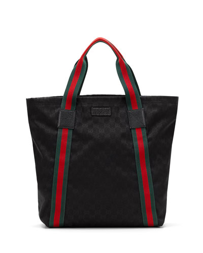 Original GG Canvas North-South Tote Bag, Black