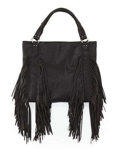 Castaway Small Fringe Shoulder Bag