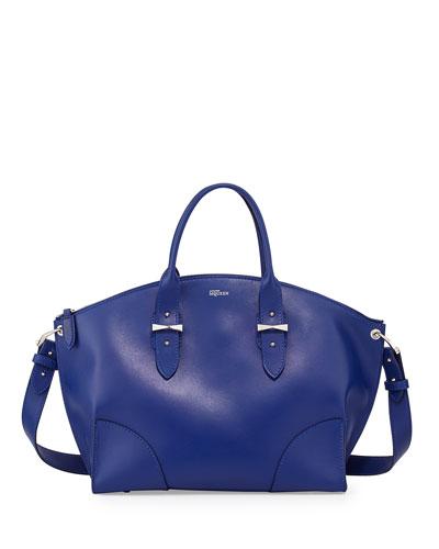Legend Leather Satchel Bag, Blue
