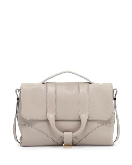 Hanne Leather Satchel Bag Beige