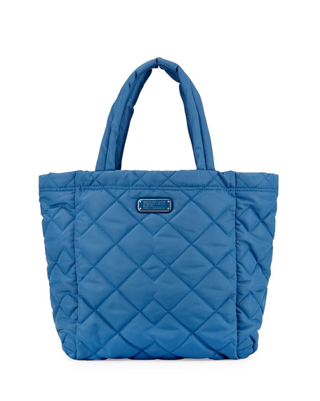 Crosby Quilted Tote Bag Bluestone