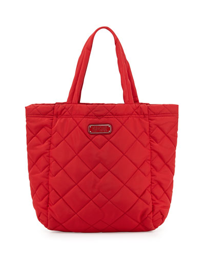Crosby Quilted Tote Bag, Rosey Red