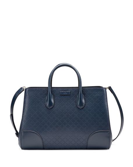 08c2945cb37b Gucci Diamante Leather Top Handle Bag, Marine Navy