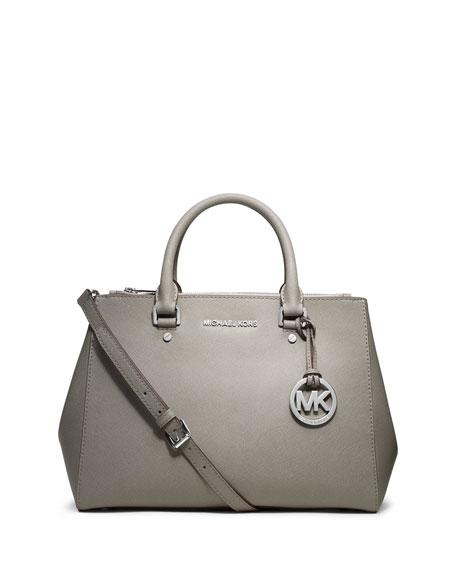 8649a5c4ace1 MICHAEL Michael Kors Sutton Medium Satchel Bag, Pearl Gray