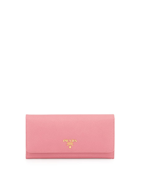 Saffiano continental wallet - Pink & Purple Prada